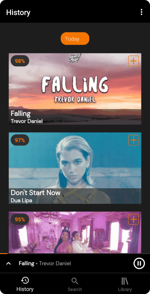 yt music screenshot 2