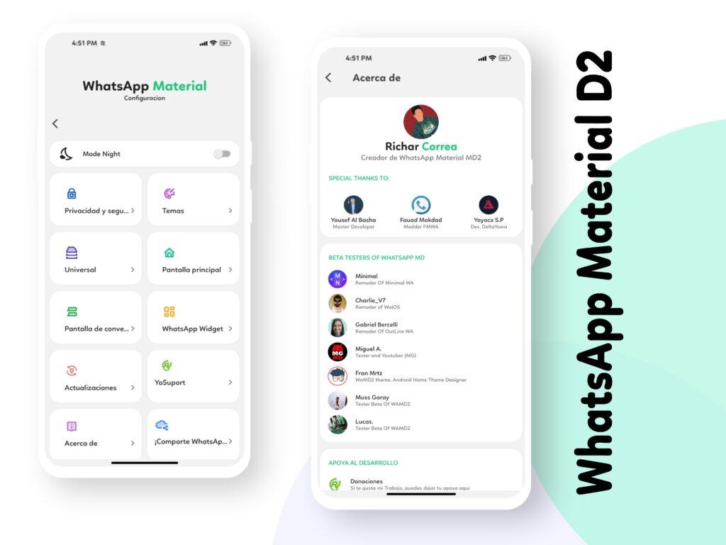 WhatsApp Material D2 Screenshot 1