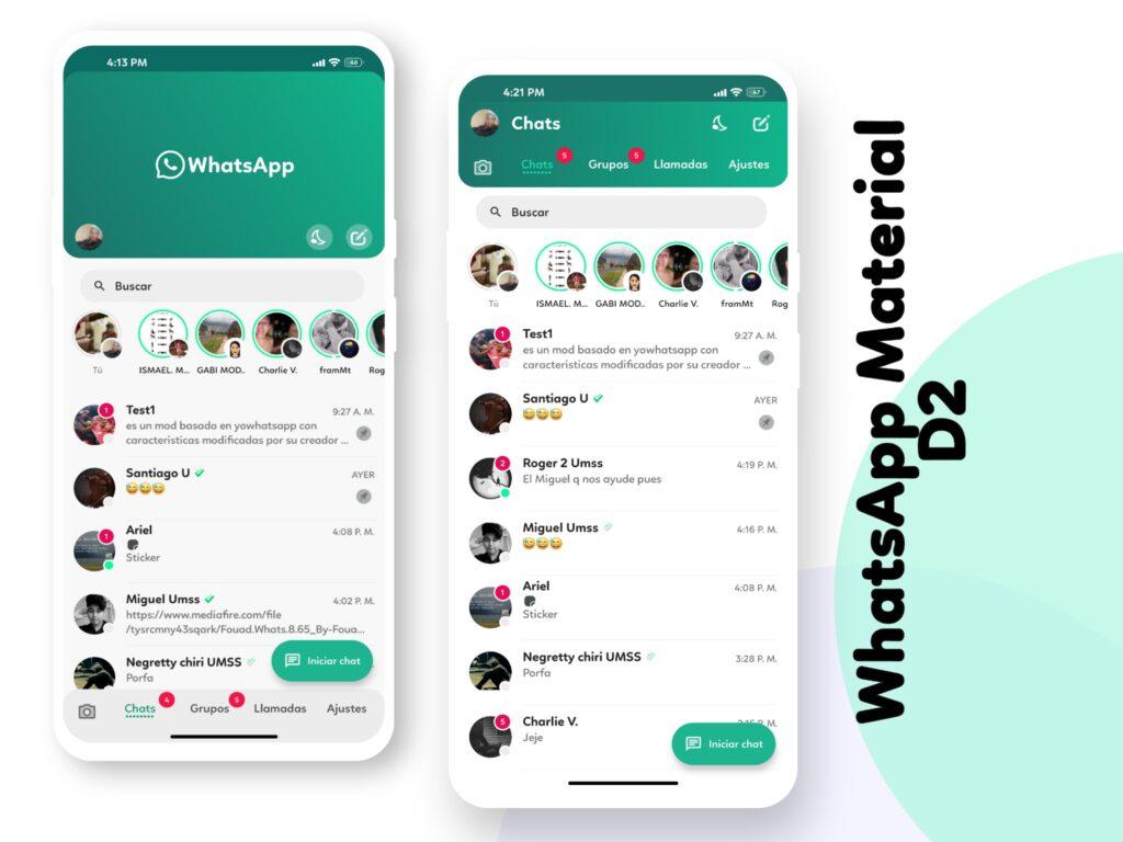 WhatsApp Material D2 Screenshot 2